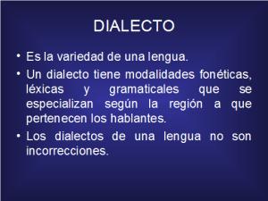 Ejemplos de dialectos, historia