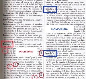 Ejemplos de sinonimia, clasificación gramática