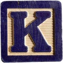 Palabras con k