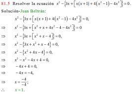 Ejemplos de ecuaciones, con agrupación de signos