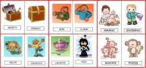Ejemplos de sinónimos y antónimos, en la oración