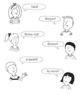 Frases en francés, saludos