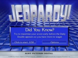 Actividades en ingles, Jeopardy on line