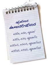 Clases de adjetivos, demostrativos