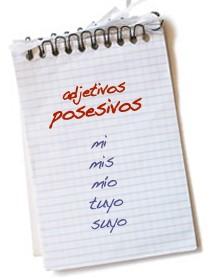Clases de adjetivos, posesivos