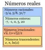 Ejemplos de numeros reales