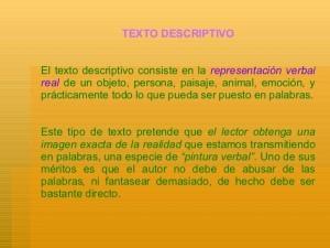 Ejemplos de textos descriptivos, literaria