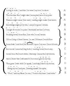 Poemas en ingles, iambic hexameter