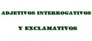 Adjetivos exclamativos, función