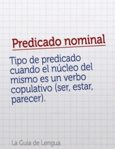 Nucleo del predicado, nominal