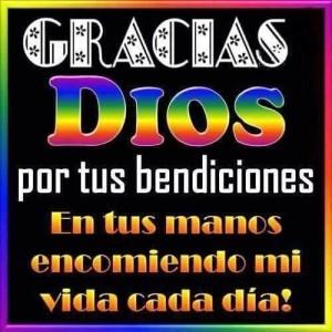 Palabras de agradecimiento a dios, a la vida