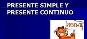 Presente simple y presente contínuo, simple