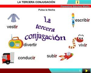 Verbos en presente simple, tercera conjugación