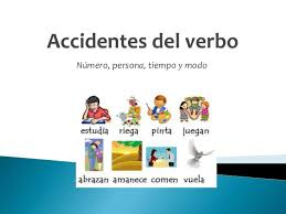 Accidentes del verbo, número y persona