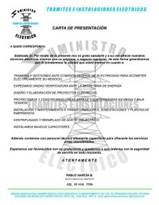 Carta de presentación de servicios