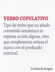 Clases de verbos, copulativos