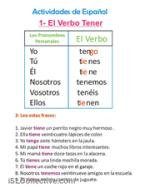 Conjugación del verbo tener