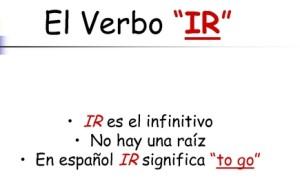 Conjugación verbo ir, condicional