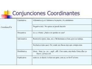 Conjunciones coordinantes, adversativas