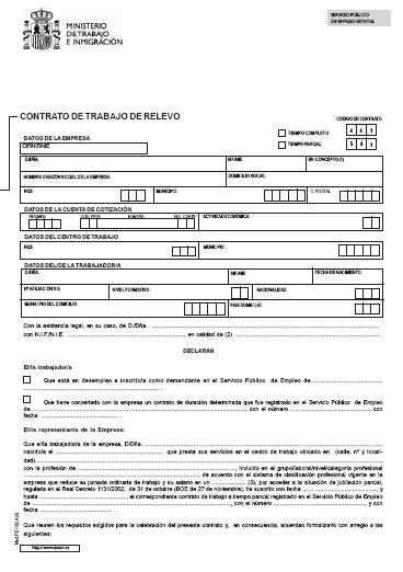 Ejemplo de contrato de trabajo ejemplos de for Modelo contrato laboral