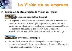 Ejemplos de misión y visión, visión