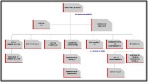 Ejemplos de organigramas, gráfica