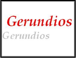 Formas no personales del verbo, gerundio