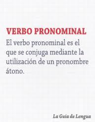 Verbos pronominales, ejemplos