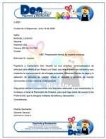 Carta de presentación de una empresa