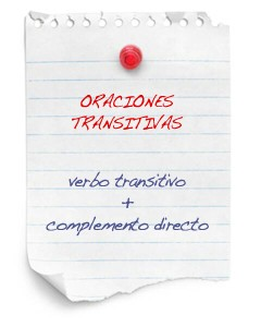 oraciones transitivas