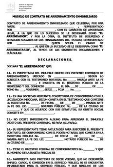 Ejemplo de contrato de arrendamiento ejemplos de for Arrendamiento de bienes muebles ejemplos