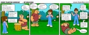Ejemplos de historietas, de aventuras
