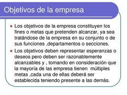 Ejemplos de objetivos de una empresa, atribuciones