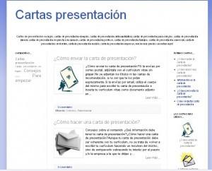 Modelo de carta de presentación de una empresa, de currículum vitae