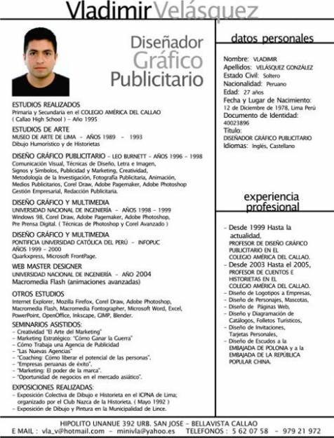 Curriculum Vitae Mexico