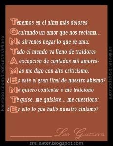 Ejemplos de acrósticos de la lengua española