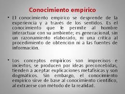 Ejemplos de conocimiento empírico