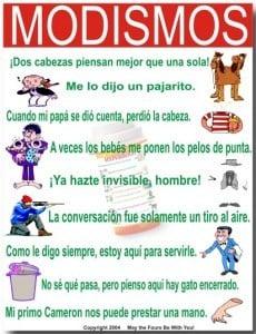 Ejemplos de modismos mexicanos