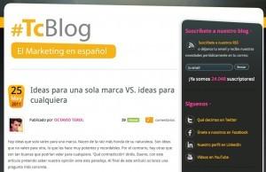 Tema de  los Ejemplos de blogs