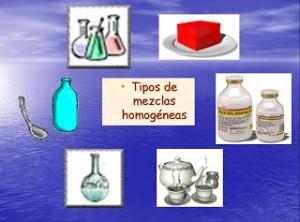 ejemplos de mezclas homogéneas y heterogéneas:  Las homogéneas