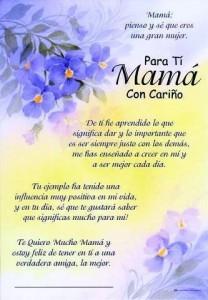 Poemas de agradecimiento A una madre
