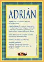 Significado de Adrián y la numerología