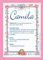 Significado de Camila Características y significado