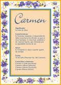 Significado de Carmen según la numerología