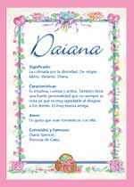 Significado de Diana:  Características