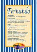 Significado de Fernando:  Características