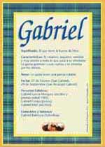 Significado de Gabriel y la numerología