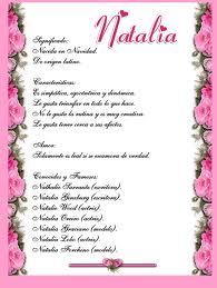 Significado de Natalia según la numerología