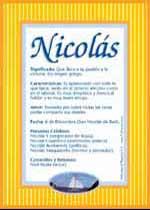 Significado de Nicolás y la numerología