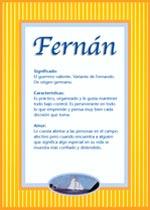Significado del nombre Fernando Y su personalidad